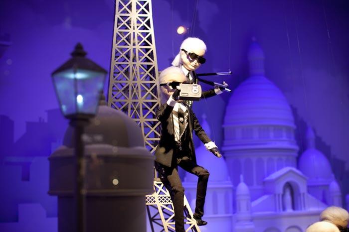 Vitrines de Noel Chanel par Karl Lagerfeld