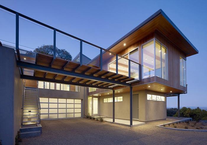 Vue exterieure Maison design
