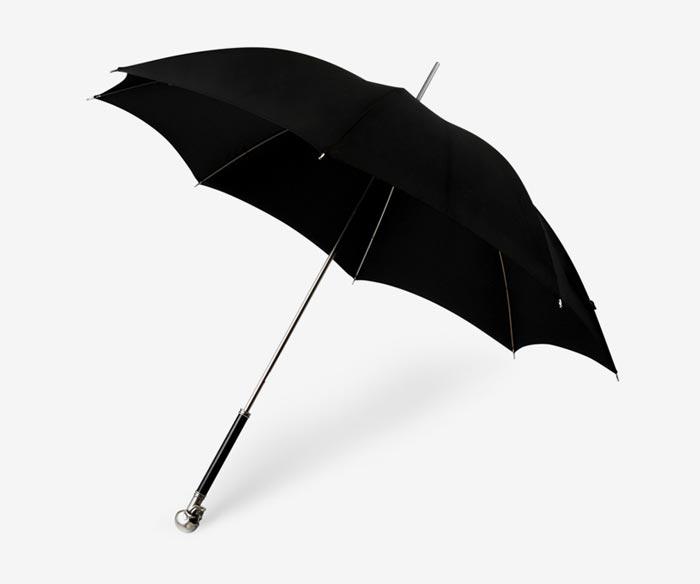 Alexander McQueen Silver Skull Umbrella
