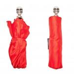 Alexander McQueen Skull Umbrella rouge