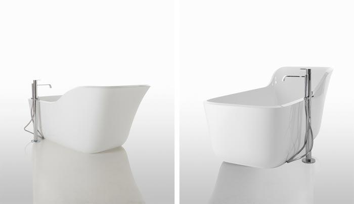 Baignoire design Wanda par Debiasi et Sandri