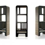 Bibliotheque design en carton noire