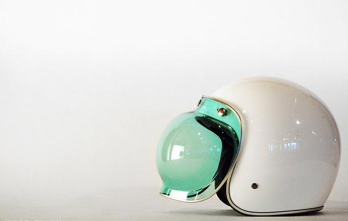 Bulle vintage pour casque de moto