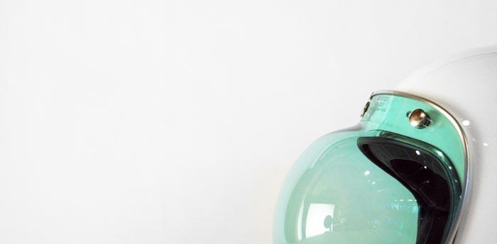 Bulle vintage transparente pour casque de moto