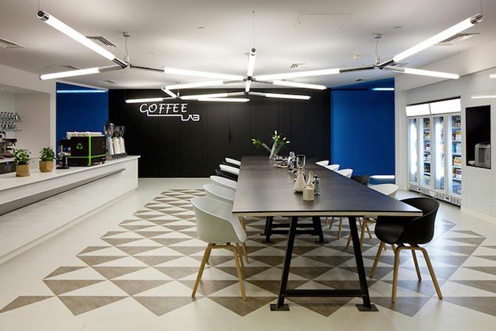 Cafeteria des bureaux Google de Londres