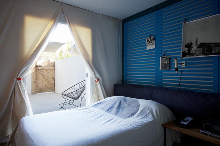 Chambre bleue du Ace Hotel