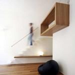 Escalier design avec insertion de bois