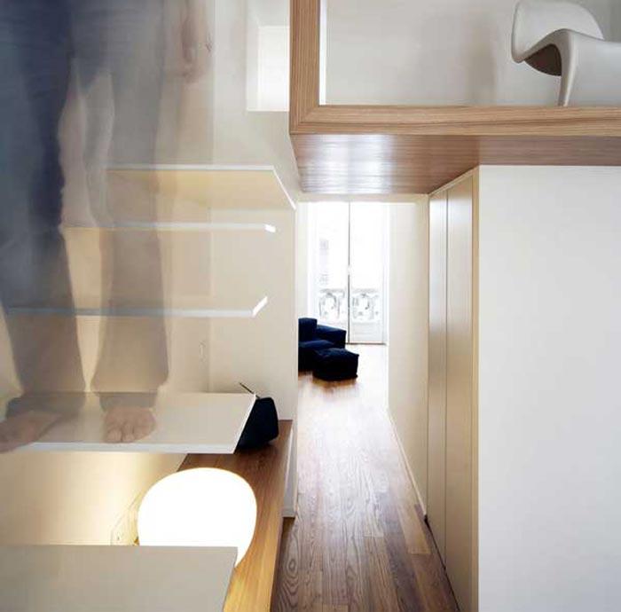 escalier design blanc et bois arkko. Black Bedroom Furniture Sets. Home Design Ideas