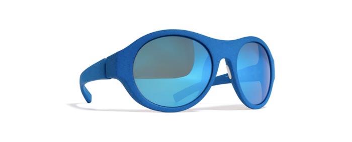 Lunettes Mykita et Moncler bleues