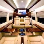 Mercedes Benz Sprinter Jetvan interieur beige et bois