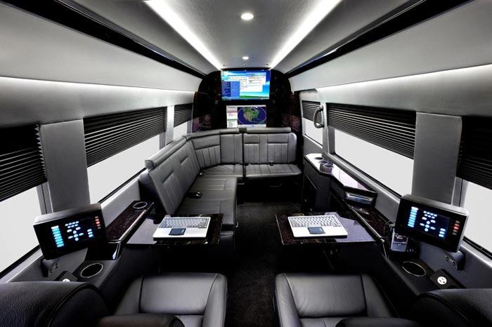 Mercedes Benz Sprinter Jetvan interieur noir