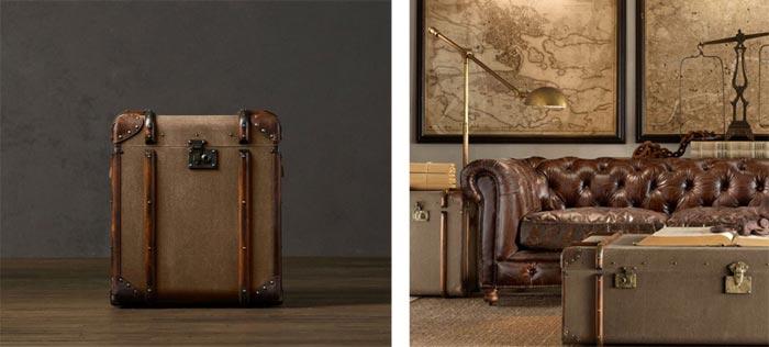Mobilier design en forme de bagages
