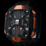 Montre design Avenger Vertical Tourbilon inspiree par Lamborghini