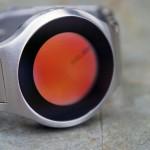 Montre design Kisai on air avec cadran rouge