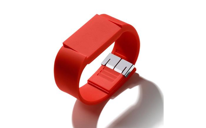Montre design Mutewatch rouge