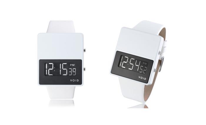 Montre design VOID V01 blanche avec cadran blanc