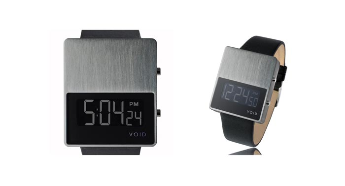 Montre design VOID V01 noire avec cadran metal