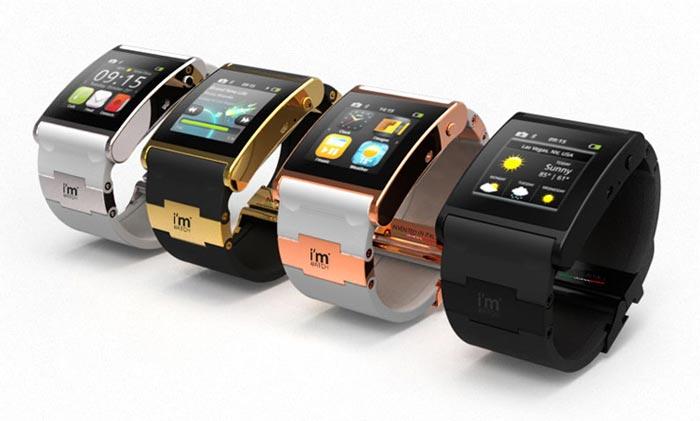 Montres design tactiles I'm watch