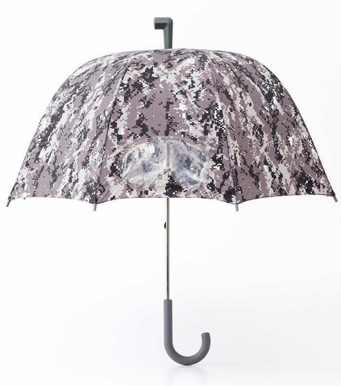Parapluie design camouflage Goggle gris