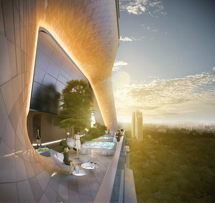 Projet Scotts Tower-Terrasse