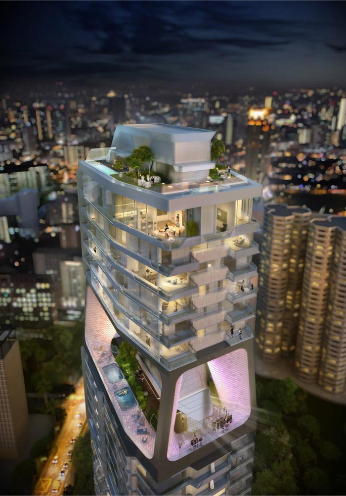 Projet Scotts Tower par UNstudio
