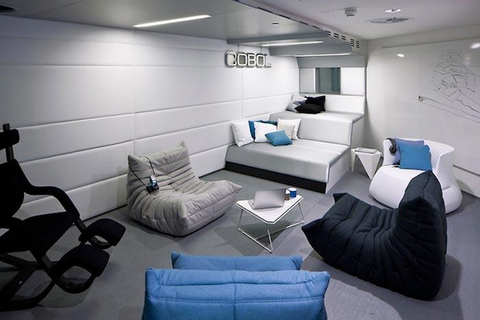 Salle de pause des bureaux Google de Londres