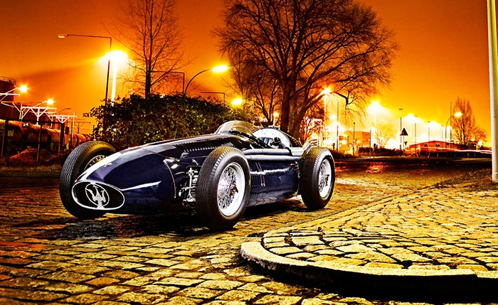 Shooting photo de la Maserati 250F