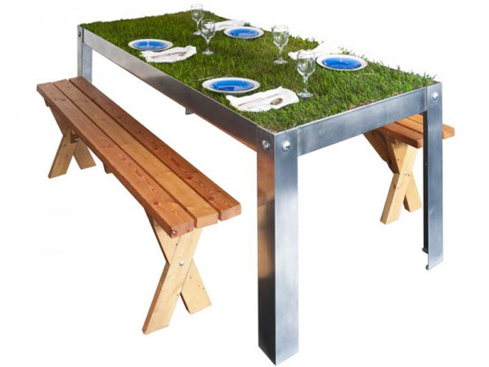 Table Herbe PicNYC par Haiko Cornelissen