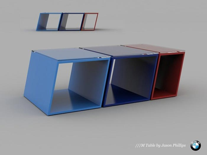 Table basse design BMW