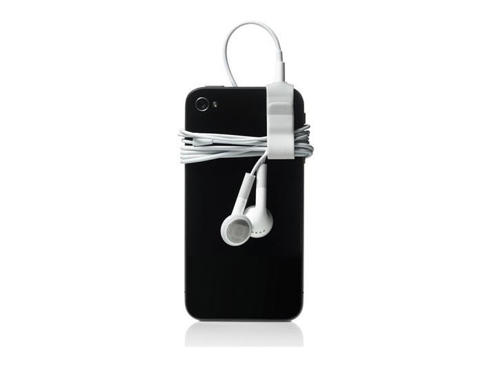 Accroche design pour ecouteurs