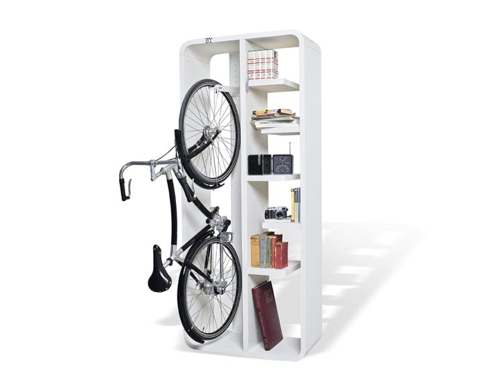 bibliotheque rangement a velo bookbike arkko. Black Bedroom Furniture Sets. Home Design Ideas