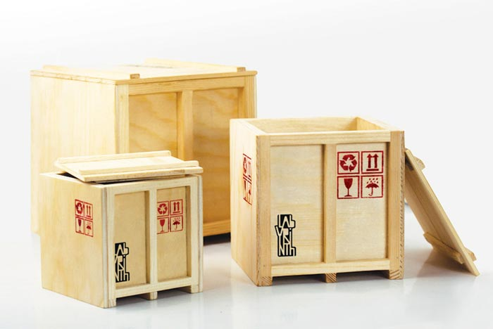 Boites de rangement mini conteneurs de cargo