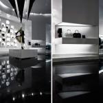 Boutique design en noir et blanc