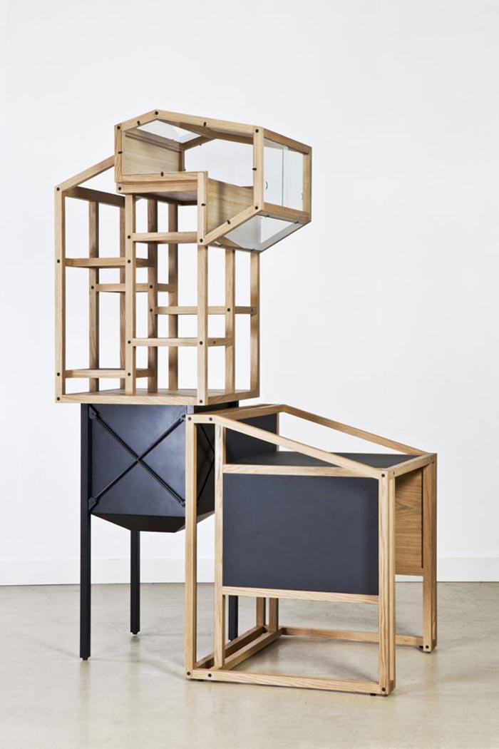bureau design en bois arkko. Black Bedroom Furniture Sets. Home Design Ideas