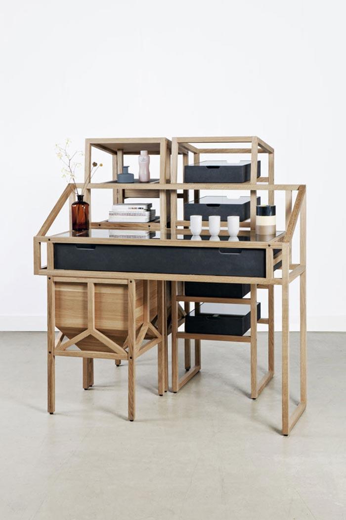 Bureaux design en bois par Mieke Meijer