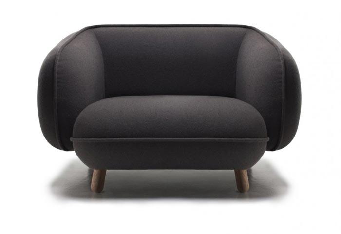 Canape design Snoopy gris