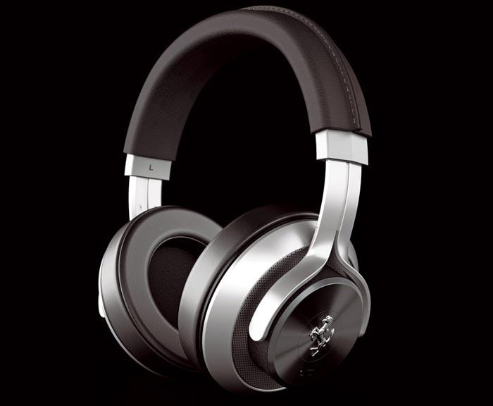 Casque audio design Ferrari gris