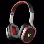 Casque audio design Ferrari noir et rouge