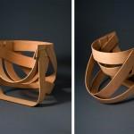 Chaise design en bambou par Remy et Veenhuizen