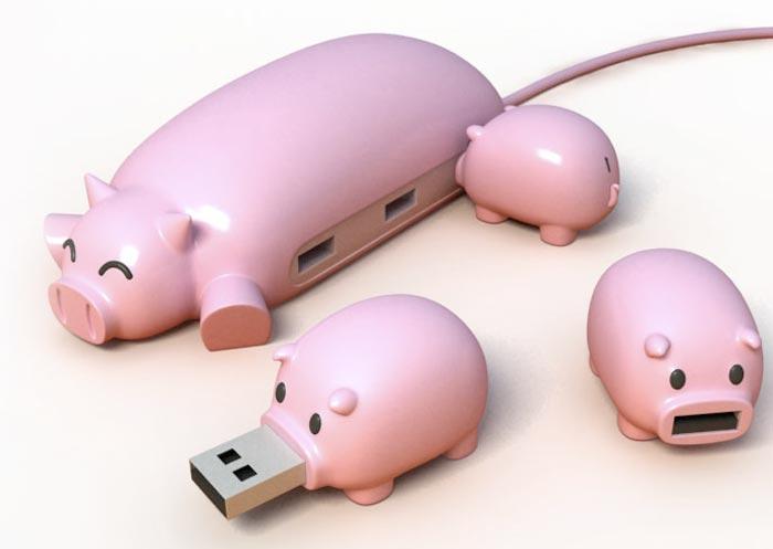 Cles USB design en forme de cochon