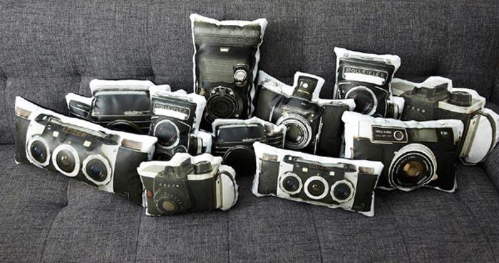 Coussins appareil photo vintage