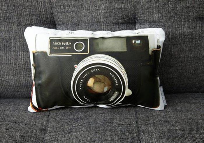 Coussins imprimes appareil photo