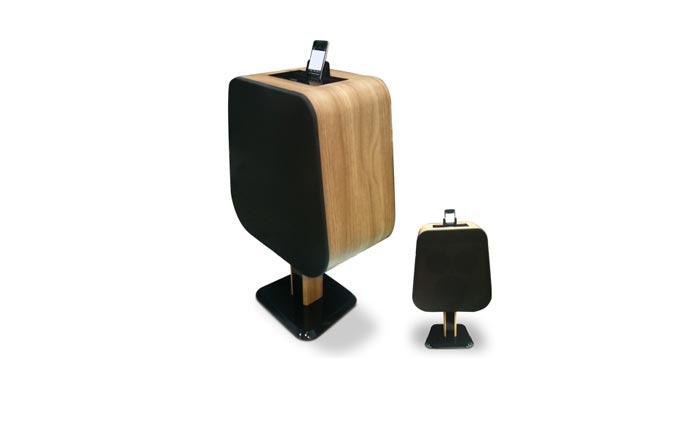 Dock iPhone et iPad en bois
