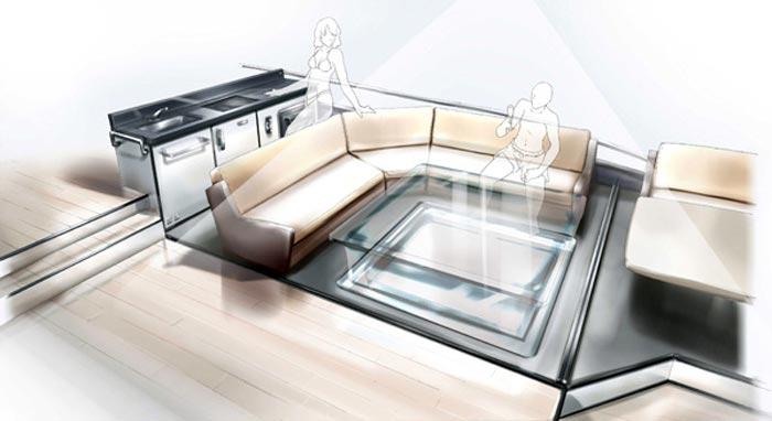Etude de style pour un yacht de luxe