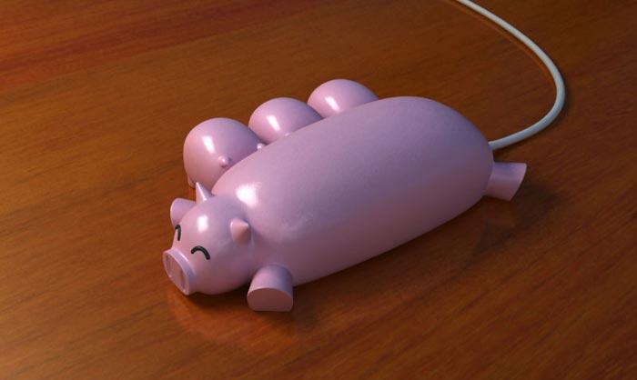Hub USB Pig Buddies