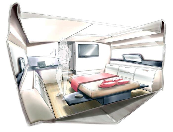interieur yacht de luxe arkko. Black Bedroom Furniture Sets. Home Design Ideas