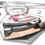 Interieur du Concept Yacht par Nantes Atlantique