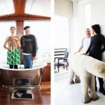 Jasmine et Philippe Starck dans leur maison