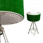 Lampe-design-avec-tambour-de-machine-a-laver