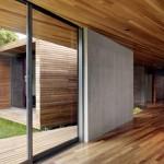 Maison design californienne-baie coulissante
